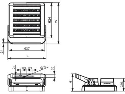 Philips BVP621 LED840/NW 800W 220-240V AWB GM - Светодиодный прожектор