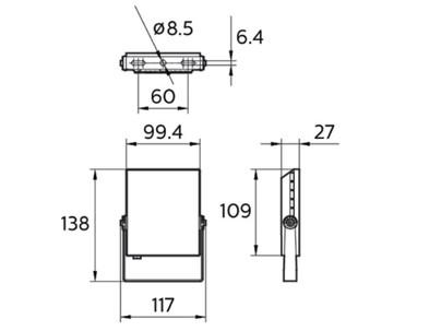 BVP131 LED8/NW 10W 220-240V WB