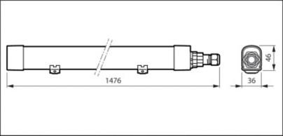 WT060C LED56S/840 PSU L1500 1500мм
