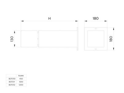 Philips BCP211 LED1000/WW 13W 100-240V Rec AL UNIBollard