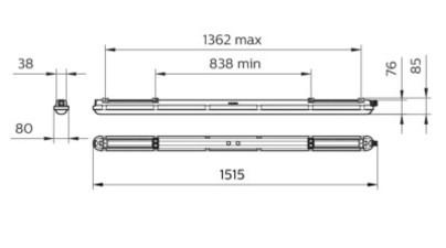 Philips WT120C LED60S/840 PSU L1500 | WT120C LED60S/840 PSU L1500 RCA