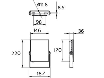 BVP133 LED24/NW 30W 220-240V WB