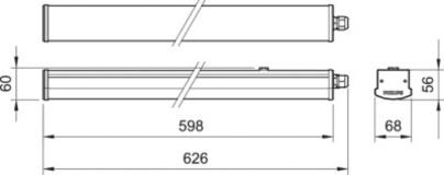Лінійний ЛЕД світильник WT066 LED18 L600