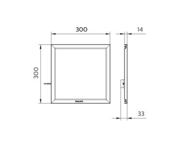 RC087B LED Panel 9W/840 W30L30FCW