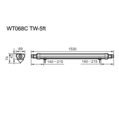 WT068C NW LED56 L1500 CFW PSU /WT068C CW LED56 L1500 CFW PSU