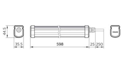 WT035C LED17/NW PSU CFW L600 600мм