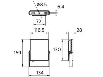 Philips BVP132 LED16/NW 20W 220-240V WB