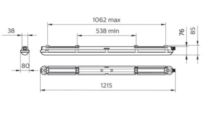 Philips WT120C LED40S/840 PSU L1200 | WT120C LED40S/840 PSU L1200 RCA