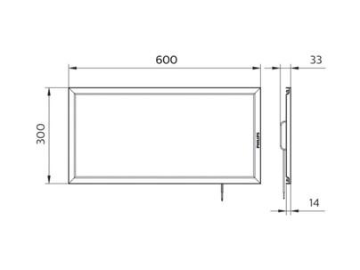 RC087B LED Panel 18W/865 W30L60FCW